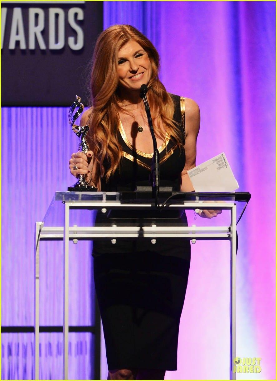 Pictured is Jennifer Westfeldt receiving an award.