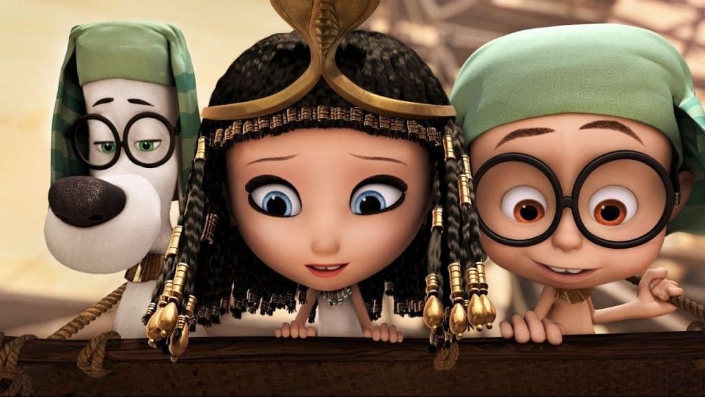 Mr Peabody, Sherman and Penny in Egyptian dress