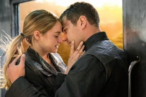 Shailene Woodley and Theo James in a still from Divergent.