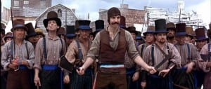 A gang, lead by actor Daniel Day Lewis in the movie 'Gangs of New York'