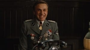 Christoph Waltz playing Colonel Landa in the film Inglorious Basterds
