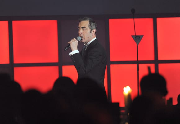 James Nesbitt on stage presenting the Empire Awards 2014.