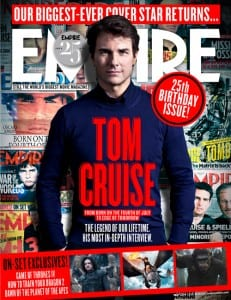 Tom Cruise on the cover of Empire magazine