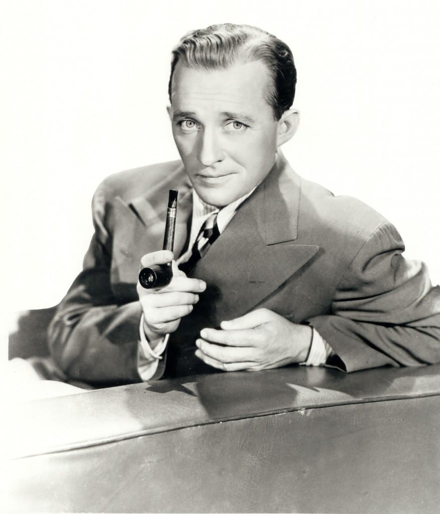 Bing Crosby with a pipe.