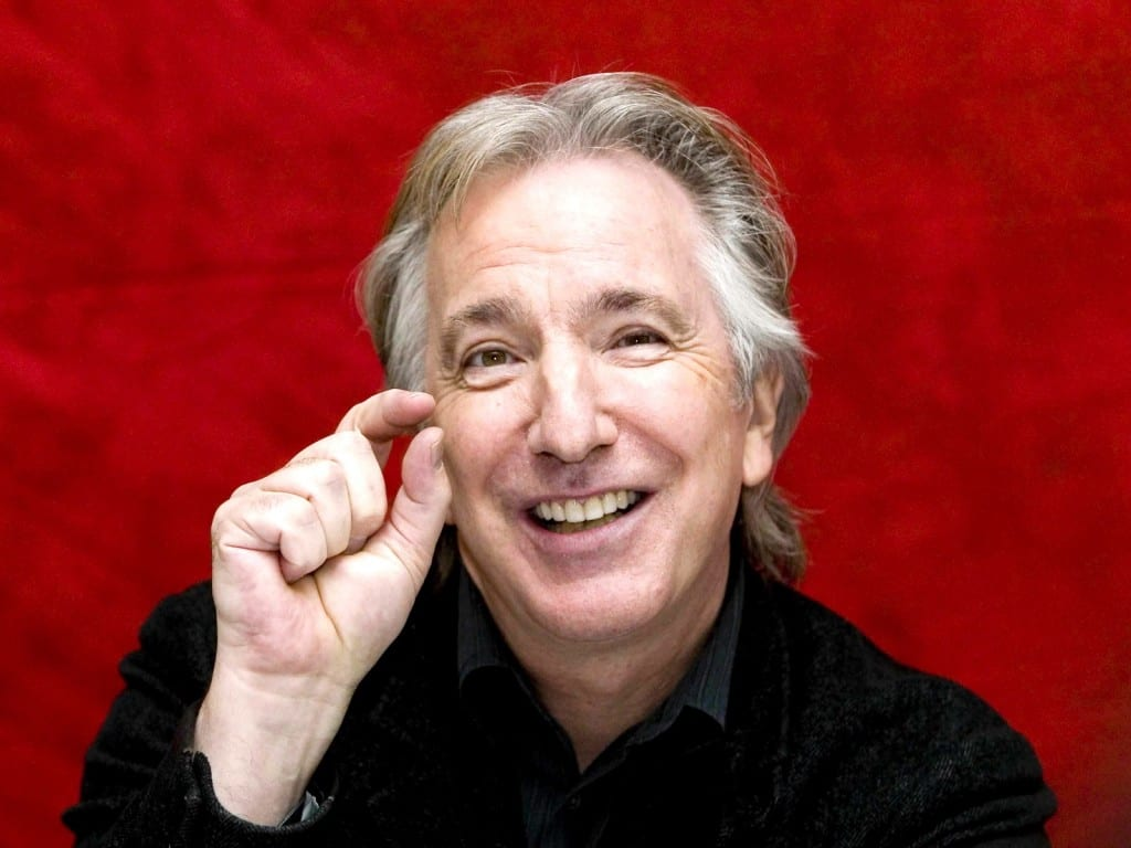 The actor Alan Rickman.