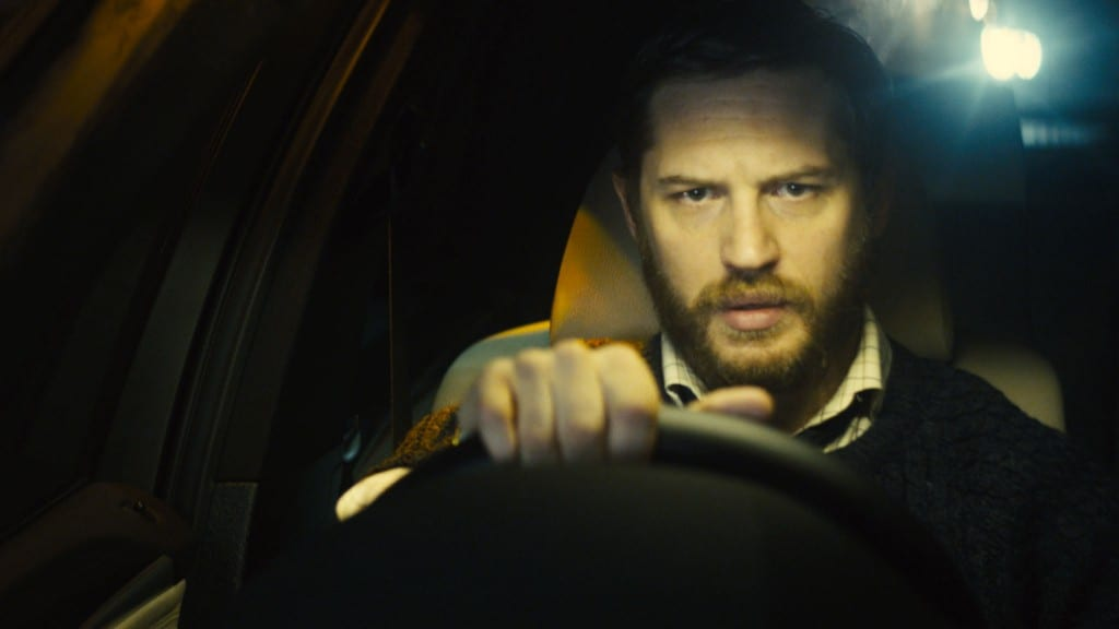 The character Ivan Locke, played by Tom Hardy, driving his car.