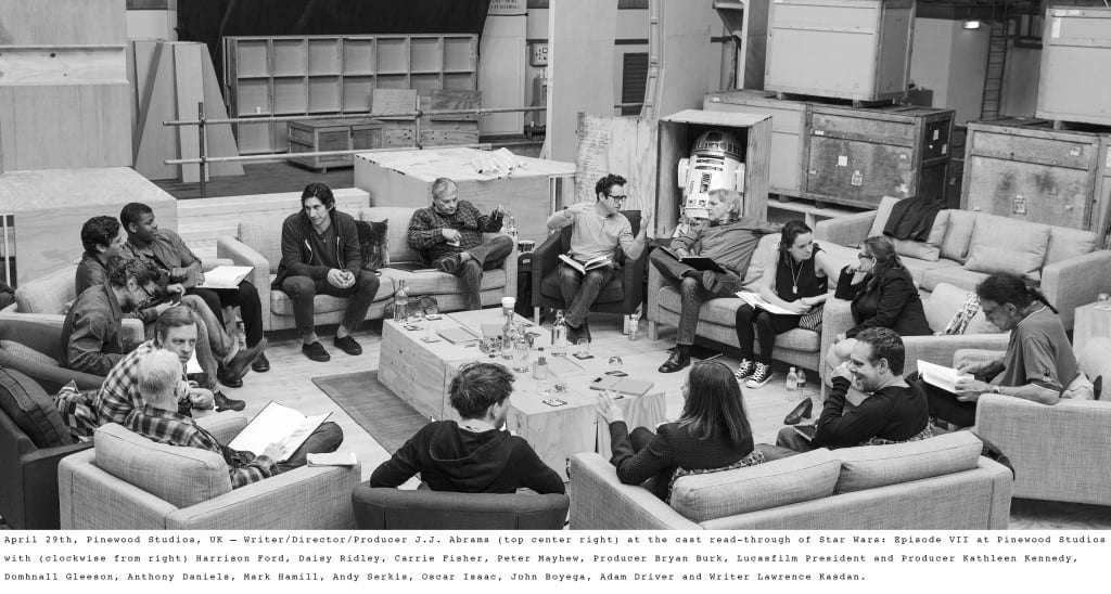A photo of the cast for Star Wars: Episode VII