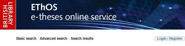 Ethos electronic thesis online service