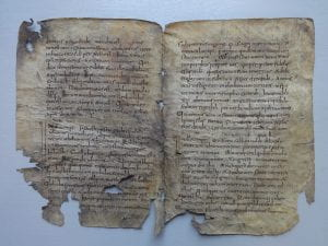 Image of fragment of Lincoln Cathedral lectionary