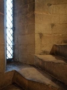 A medieval stairwell in Lincoln cathedral.