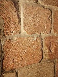 Stones with masons' marks.