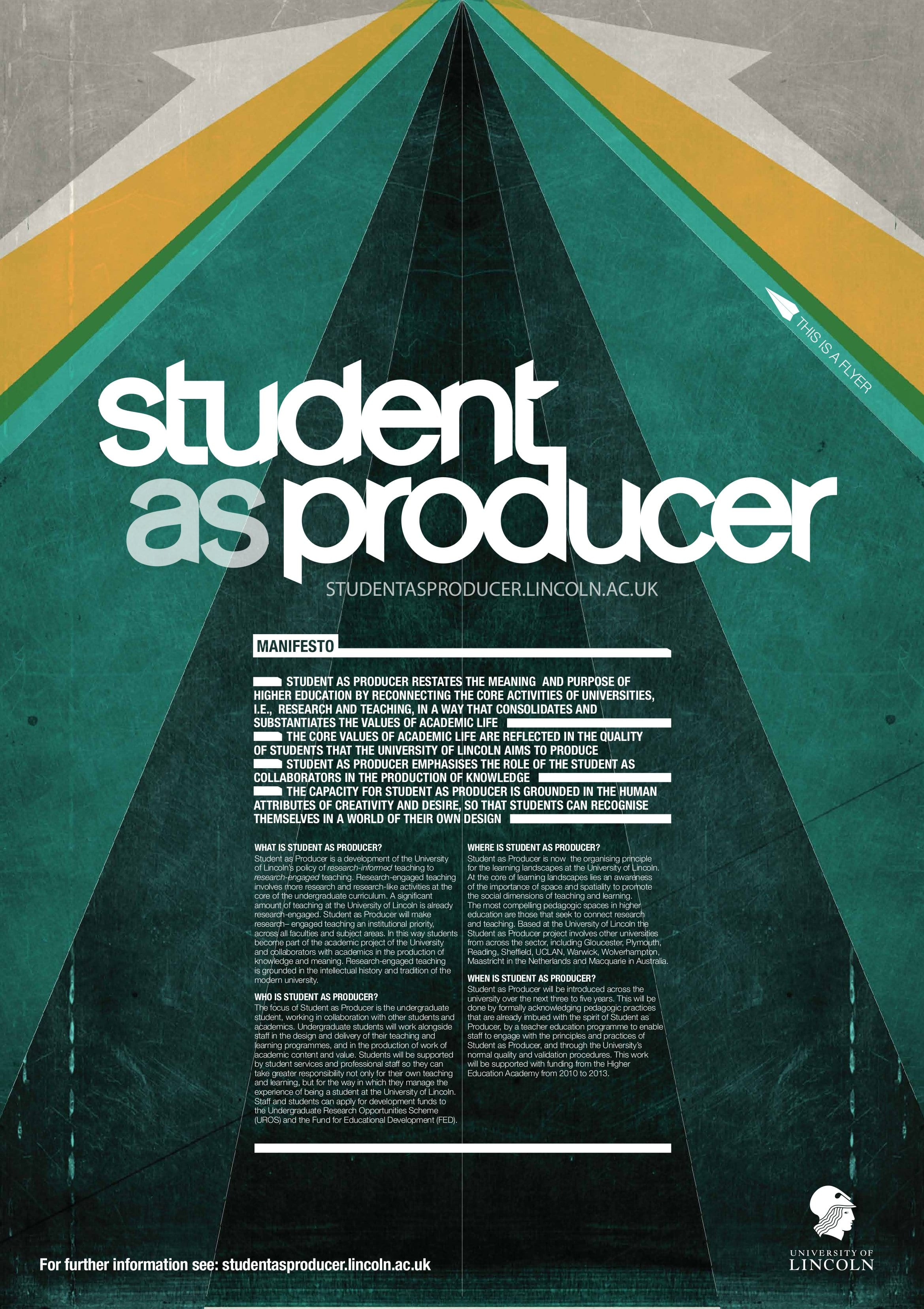 Poster design uk - Student As Producer Poster