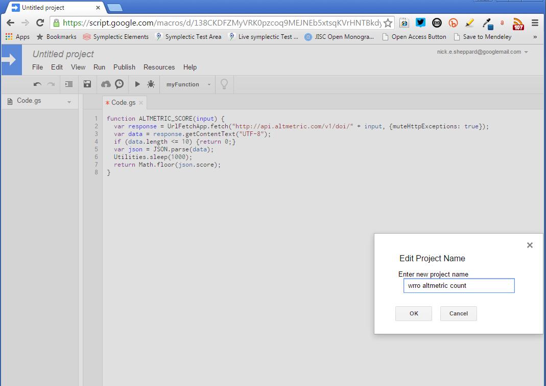 GoogleScript