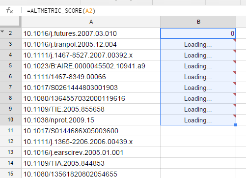3. Script will run for each cell in column A