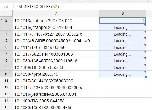 3. Script will run for each cell in column A