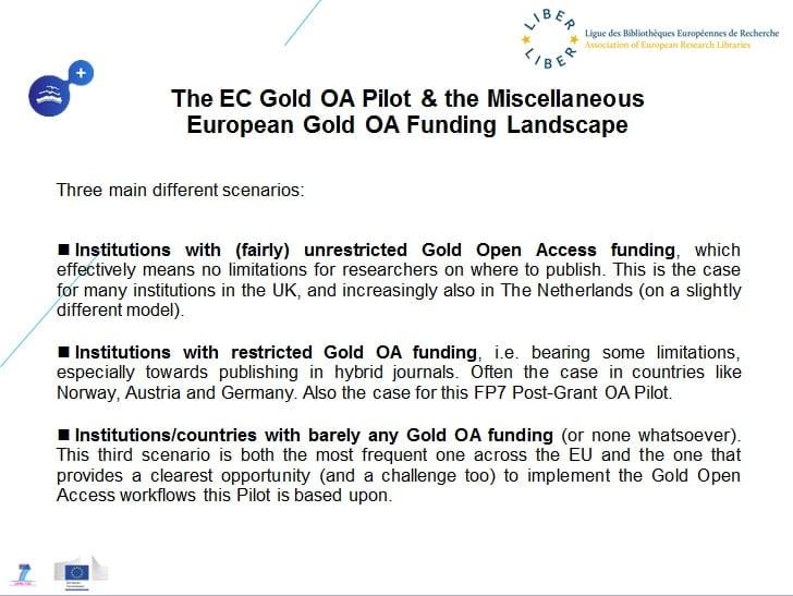 Gold OA funding landscape
