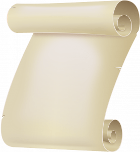 A scroll depicting the constitution