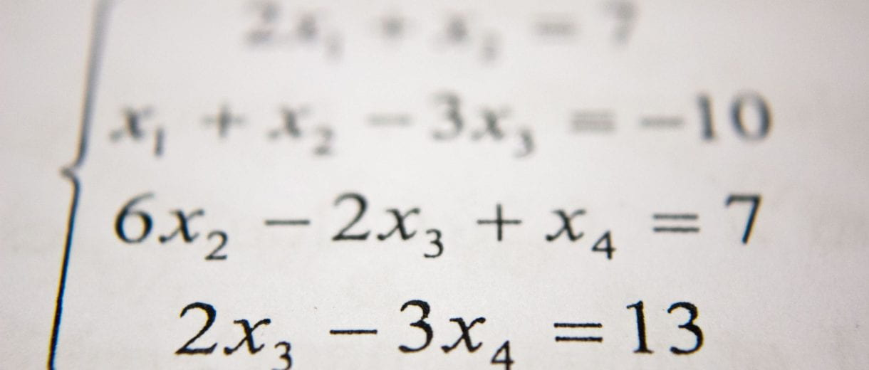 Learning at Lincoln - Maths equation
