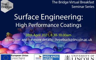 Surface Engineering: high performance coatings – virtual breakfast seminar