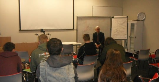 Visit by local MP and Politics Alumni, Martin Vickers