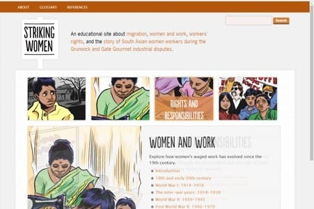 Striking Women website receives millionth visit!