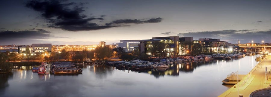 Brayford campus at night