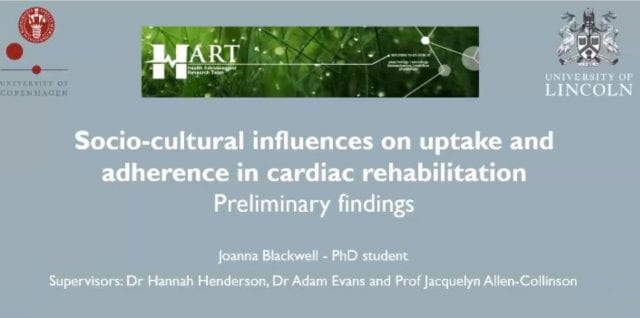 Presentation on cardiac rehabilitation research