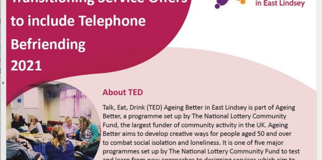 TED East Lindsey – report on telephone befriending and older adults