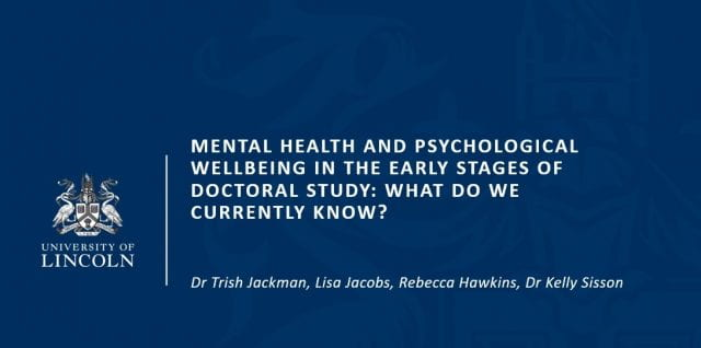 Paper at International Conference on Mental Health & Wellbeing of Postgraduate Researchers