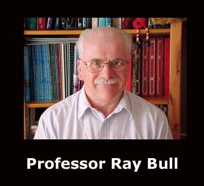 Professor Ray Bull to give a talk to the School of Psychology (22nd Jan, 2020)