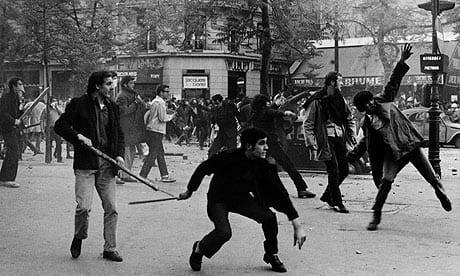 Students rioting in Paris, 1968.