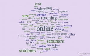 word cloud - priorities if time for face to face learning limited