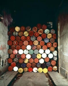 christo_jeanne_claude_wall_barrels_postcard_1