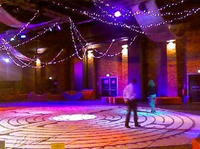 Walking the labyrinth at the University of Lincoln, 2009