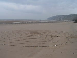 labyrinth on Speeton beach in North Yorkshire