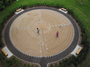 Labyrinth at the University of Edinburgh; photograph by Di Williams