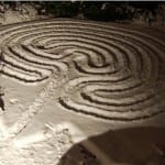 garden labyrinth by Glen Robinson and friends