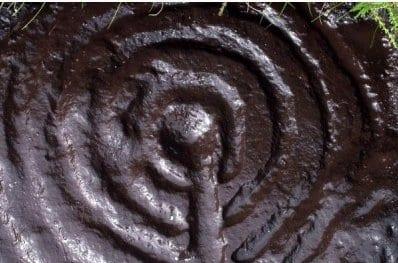 Rock art spiral image