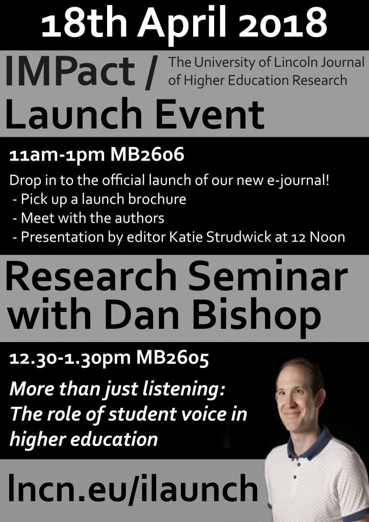 IMPact Launch and Research Seminar with Dan Bishop