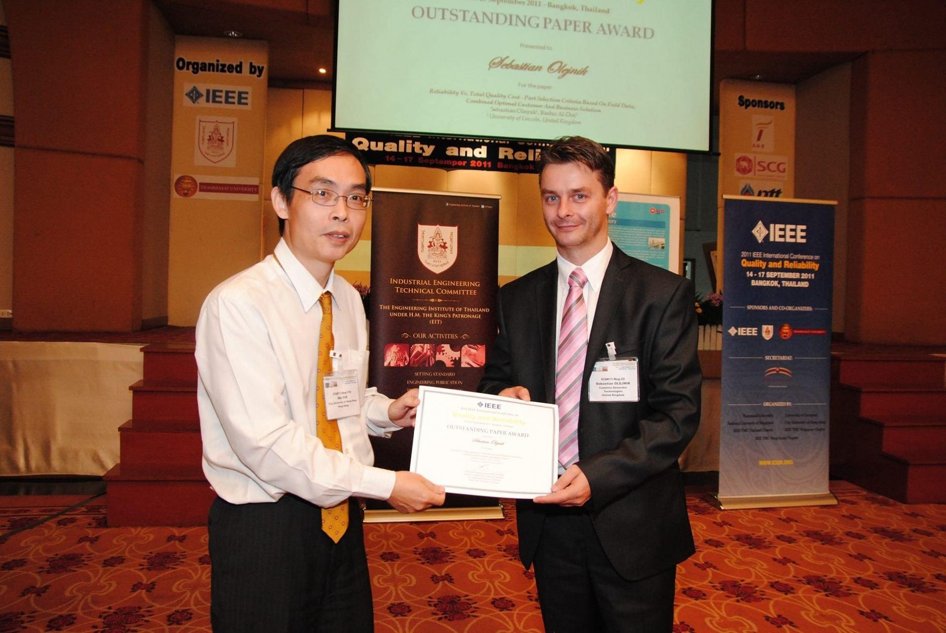 Sebastian Olejnik, ICQR2011 Outstanding Paper Award