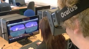 Pupils trying out Oculus Rift