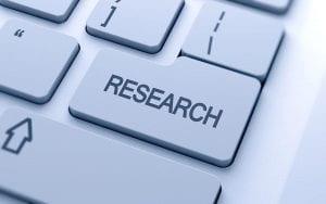 Keyboard key that says 'research'