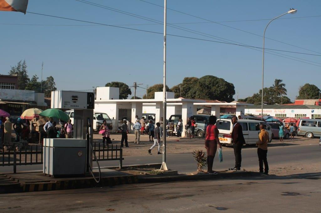 Bus terminal in Matola, Maputo