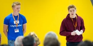 UCL graduates Jacob and Matt talking about their start-up CityStasher at UCL BaseKX, UCL's entrepreneurial hub in the heart of King's Cross, London. Look out for their story as progress against UCL 2034 strategy.