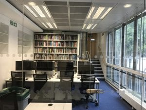 Flexible study space at the refurbished UCL Great Ormond Street Institute of Child Health Library