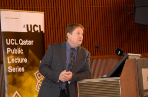 Rob Carter lecture in Qatar