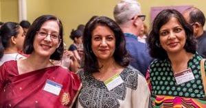 Prof Marie Lall, Prof Monica Lakhanpaul and Prof Priti Parikh
