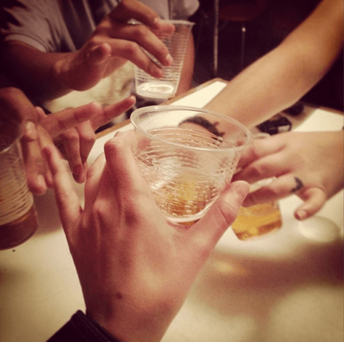 Toasting to New Friends (Photo by Nell Haynes)