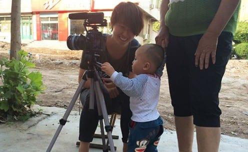 Baby in fieldsite using Kiki Wang's camera (Photo: Tom McDonald)
