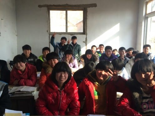 Learning from each other in the North China fieldsite (Photo: Tom McDonald)